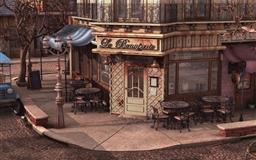 Cityscapes Streets Balcony Tables Restaurant