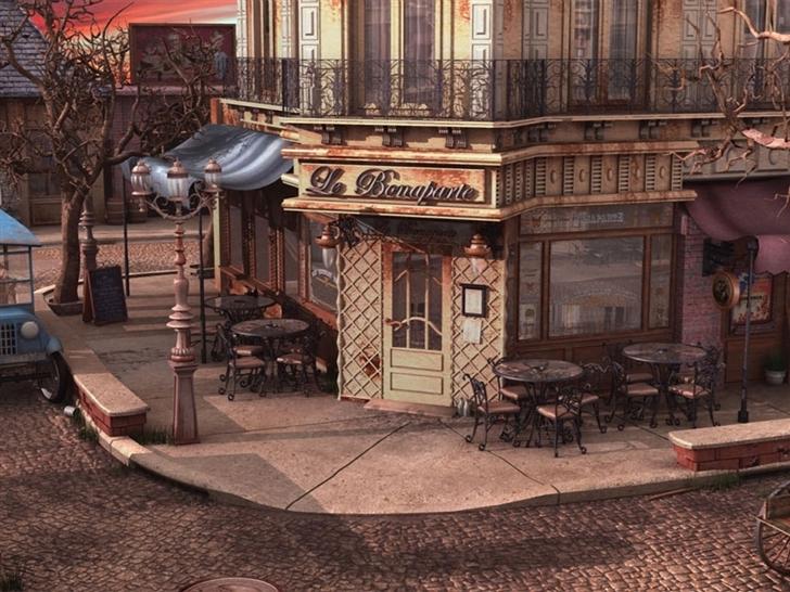 Cityscapes Streets Balcony Tables Restaurant Mac Wallpaper