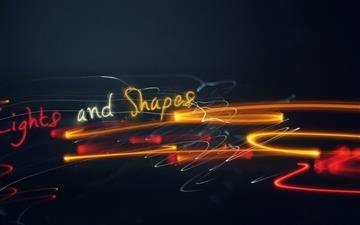 Light Shapes All Mac wallpaper
