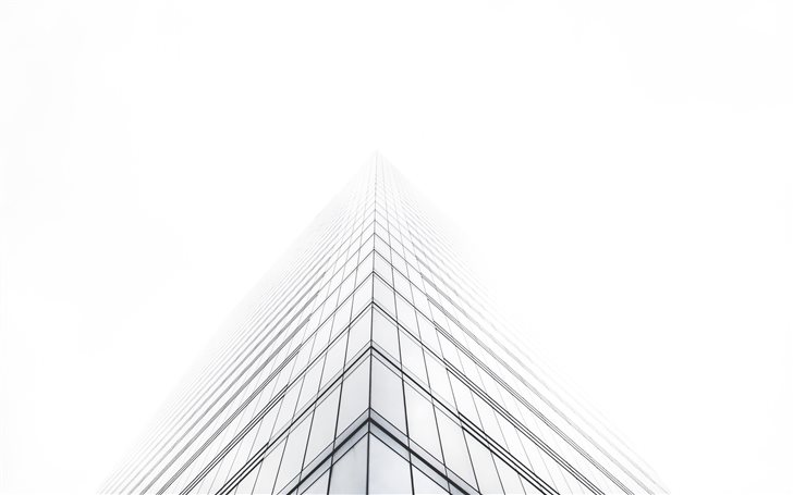 Office building in mist Mac Wallpaper
