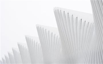 White architecture Mac wallpaper