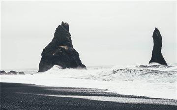 Coastline rock formations Mac wallpaper