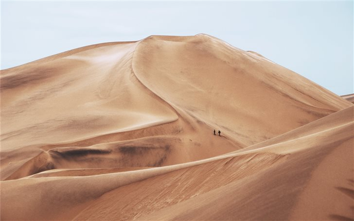 Hiking Through Sand Dunes Mac Wallpaper