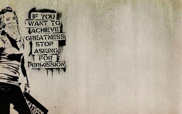 Graffiti slogan Mac wallpaper