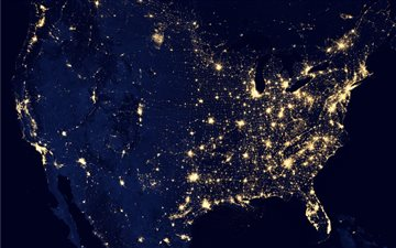 United States seen from o... Mac wallpaper