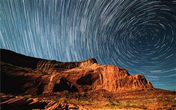 Cliff Star Trails Mac wallpaper