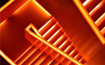 Lighting stairs Mac wallpaper