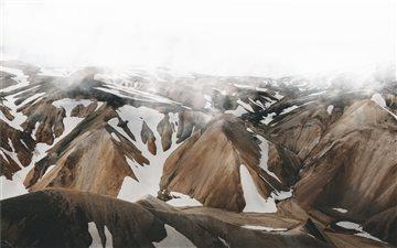 Mountain Under Mist Mac wallpaper