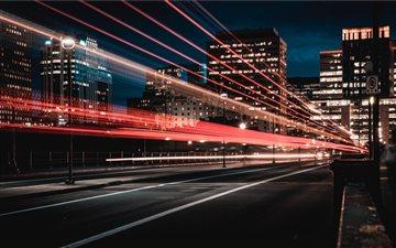 Ottawa road in the evenin... Mac wallpaper