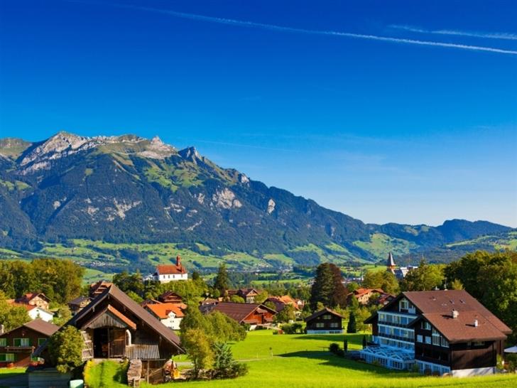 Swiss alps Mac Wallpaper