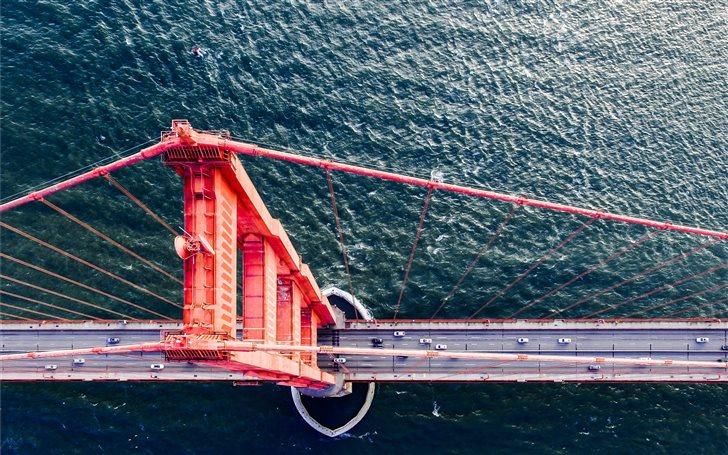 drone view golden gate br... Mac Wallpaper