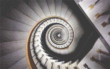Infinite spiral stairs Mac wallpaper