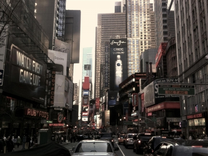 New York City Street Mac Wallpaper