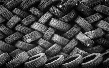 Black tire pattern Mac wallpaper