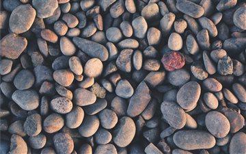 Round pebble pattern Mac wallpaper