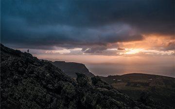 On a tall ridge at dusk Mac wallpaper