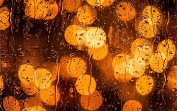 rainy day bokeh Mac wallpaper