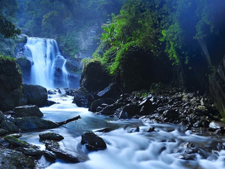 Beautiful Taiwan Forest Waterfalls Mac Wallpaper