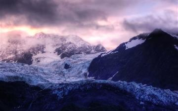 Glacier Sunrise Mac wallpaper