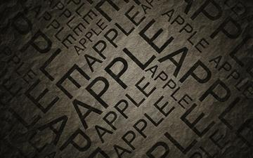 Apple Text Black Mac wallpaper