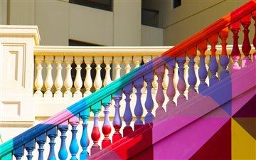 Rainbow Stairs Mac wallpaper