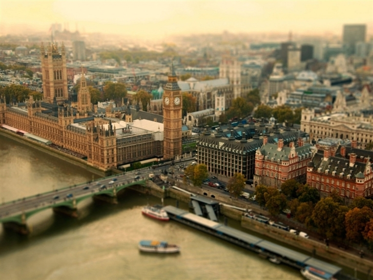 London UK Bokeh Mac Wallpaper