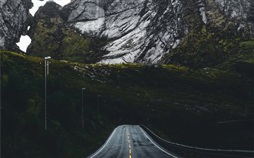 A mountain road in Norway Mac wallpaper