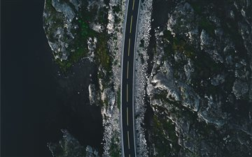 A road in Norway Mac wallpaper