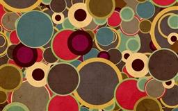 Multicolor Circles Brown