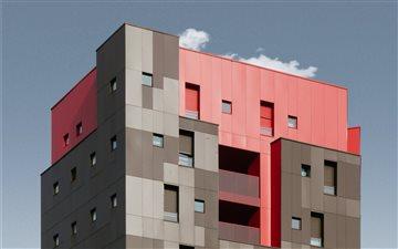 Cubic Red Mac wallpaper