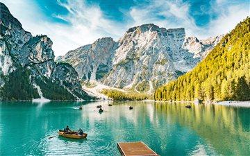 Lago di Braies (Wildsee p... Mac wallpaper