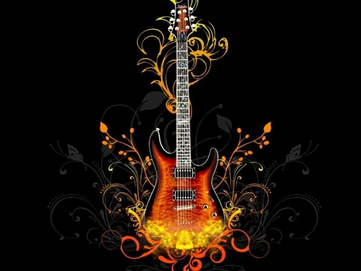 Guitar Abstract Mac Wallpaper