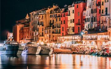 Italian riviera by night Mac wallpaper
