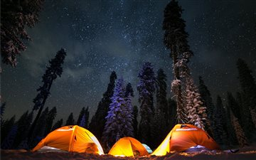 Snow Camping in Sierra Na... Mac wallpaper