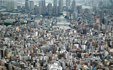 Tokyo panorama Mac wallpaper