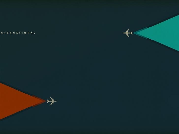 Aircraft Triangular Color Mac Wallpaper