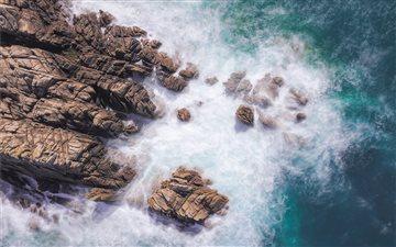 Rough Sea at Cobo Bay, Gu... Mac wallpaper