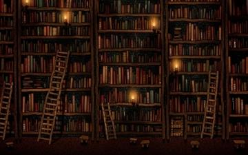 Bookshelves MacBook Air wallpaper