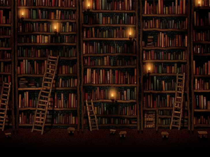 Bookshelves Mac Wallpaper