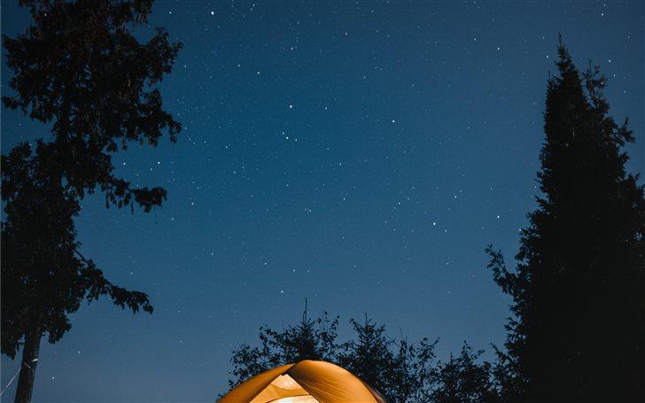 Camping Under the Stars Mac Wallpaper
