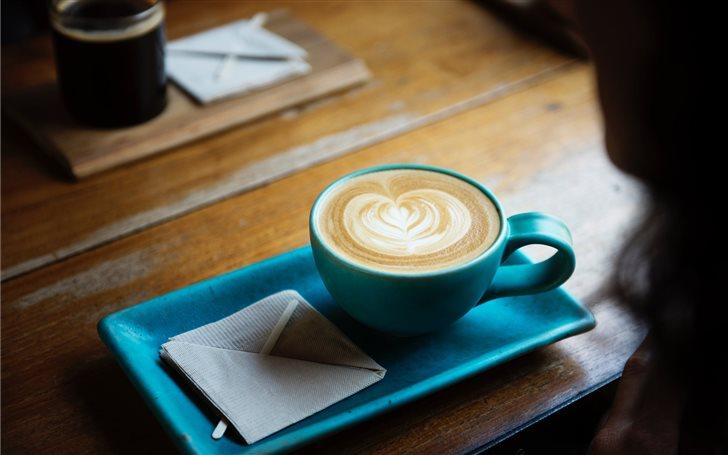 Blue coffee cup Mac Wallpaper