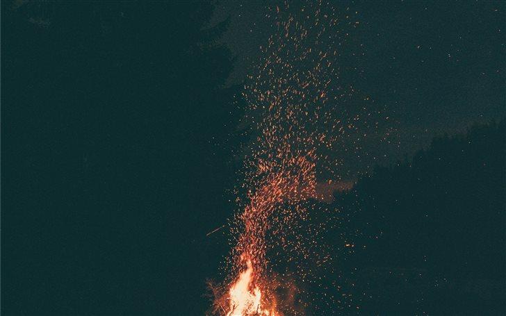 Fire is silence Mac Wallpaper