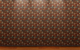 Dot Wallpaper Wood Flooring
