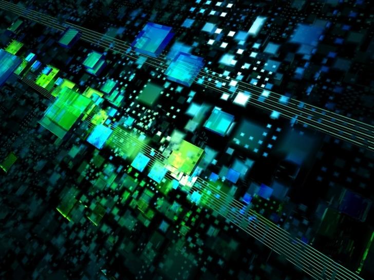 Abstract Electronic Optical Mac Wallpaper