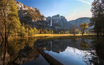 Yosemite Valley reflected... Mac wallpaper