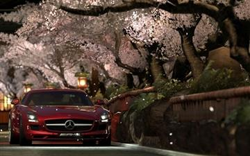 Mercedes Benz Sls Amg Red Night Mac wallpaper