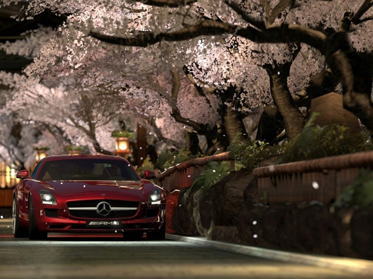 Mercedes Benz Sls Amg Red Night Mac Wallpaper