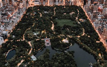 Central Park from above -... Mac wallpaper
