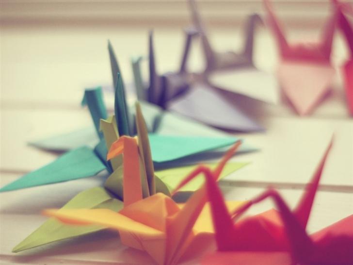 Colorful Origami Mac Wallpaper