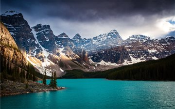 Moraine Lake Clouds Mac wallpaper